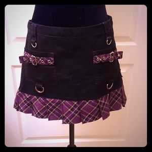 Tripp brand purple plaid skirt